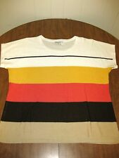 LIZ CLAIBORNE striped sweater 1980s women's XL earth tones OG