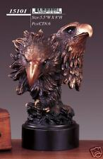 """Bronze Finished Eagle Sculpture Statue 5.5""""W x 8""""H NEW"""