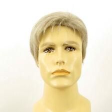 Perruque homme 100% cheveux naturel blanc méché gris FRANCOIS 51