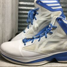 Adidas Mens White High top Sprint Webb Blue Accents Size 15 Padded Collar