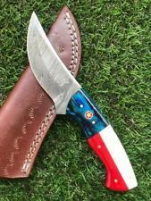 CUSTOM HANDMADE TWIST DAMASCUS STEEL SKINNER HUNTING KNIFE X 44