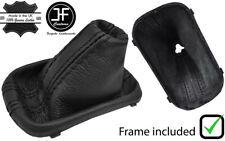 BLACK STITCH LEATHER GEAR BOOT+FRAME FOR VW GOLF MK5 V 03-09 GTI GDT R32 DSG