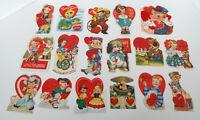Antique Valentine Collection 17 Piece Estate Lot Americard Hallmark Germany USA