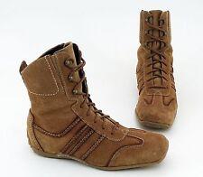 Sneaker High Top Tamaris Stivaletti ALLACCIATI VERA PELLE MARRONE TG. 38