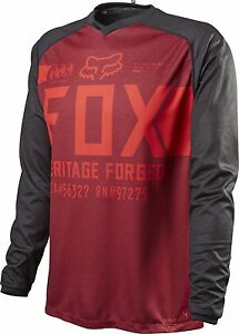 Fox Racing Indicator L/S Long Sleeve Jersey Heather Red