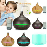 Air Purifier Humidifier Oil Diffuser LED Colour Ultrasonic Aroma Essential Oil