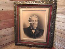 Large Antique Vintage Ornate Wood Rococo Leaf Gold Gilt Picture Frame
