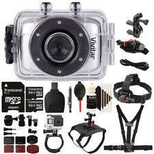 Vivitar DVR781HD HD Action Waterproof Camera Camcorder Silver with Accessory Kit