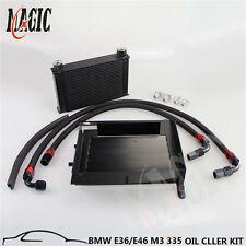 25 ROW BOLT ON OIL COOLER KIT UPGRADE FOR BMW 3 SERIES 335I E90 E92 N54 BLACK