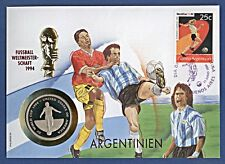 Numisbrief Fussball WM 1994 Argentinien 1000 Shillings Ugan + Stemp 1994 NBA6/1