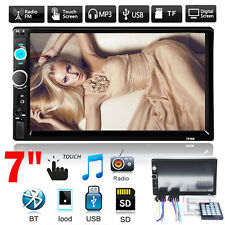"7"" doppio 2 Din Car MP3 Player Bluetooth Touch In-Dash USB/AUX Stereo Radio FM"