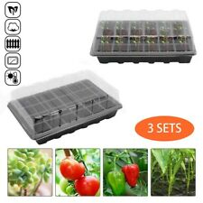 More details for 3x 24cell seed trays set seedling starter tray germination plant pots grow box