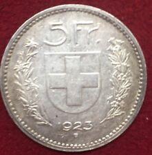 SUISSE 5 FRANCS ARGENT 1923 B      ETAT : TTB  Lot 423