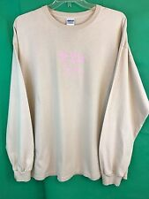 Gildan Jiving Java Granite Falls NC Beige Pink Long Sleeve Tee Shirt Size 2XL