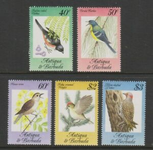 Antigua - 1984, Chanson Oiseaux Ensemble - MNH - Sg 869/73