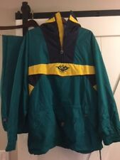 MENS VINTAGE CB SPORTS JACKET Pullover Ski Shell Sz LARGE green with Pants