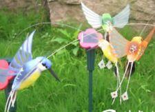 4 x Solarbetriebene Vögel Gartenstecker Solar Kolibri