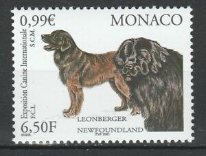 Monaco 2001 Animals, Pets, Dogs MNH stamp