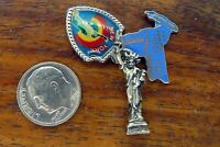 Vintage sterling silver NEW YORK STATE MAP STATUE LADY LIBERTY charm CHARMS LOT