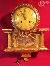 1930s Swedish Westerstrand Gold Rococo Carved  Wall Clock