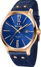Tw Steel Oversize Montre Hommes Tw-1305 Tw1305 Analogue en Cuir Bleu,