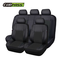 Premium Universal Car Seat Covers Leather Black For Boy Girls Split Rear 40/60