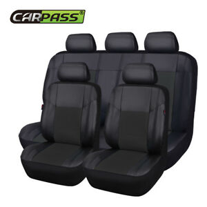 Premium Universal Car Seat Covers Leather Black For Boy Girls Split Rear 40/60