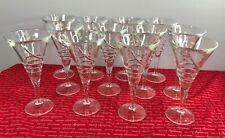 Set of Twelve Glass Dessert / Cocktail Glasses / Flutes