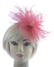 Large Coral Fascinator on a long clip, Weddings, Races,
