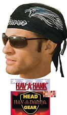 LINED Tied DOO Do RAG FITTED Bandana RIDE FOREVER USA Eagle Biker HavAdanna Ties
