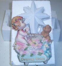 "Fiber Optic 12"" Christmas Wishes resin Hand Painted Figure Decorations 81162"