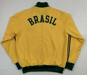 adidas originals brasil retro 1974 world cup trefoil track fifa jacket sz xl