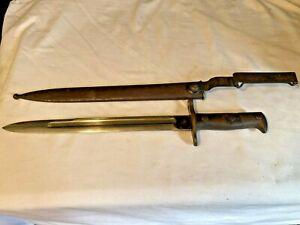 Antique Krag Bayonet w/ Scabbard