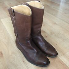 Gucci Brown Leather Boots Size 41 1/2