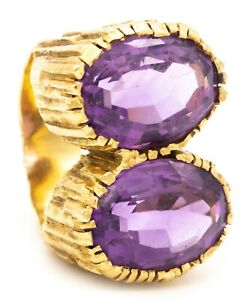 TIFFANY & CO. ANDREW GRIMA 1972 LONDON 18 KT COCKTAIL RING 16.45 Cts AMETHYST