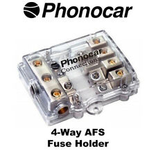 Phonocar 4/499 4-Way AFS Fuse Holder 4AWG Input 8AWG Output
