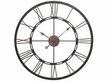 Libra Large Metal Skeleton Geometric Iron Wall Clock Roman Numerals 70.5cm