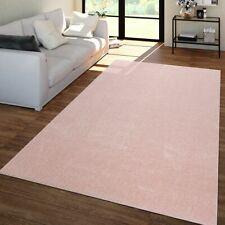 Wohnzimmer Teppich Unifarben Kurzflor Trendig Und Soft, Schlicht In Rosa