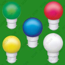 Assortiment 5 pack coloré 0.5W B22 led ampoules balle de golf bc feston lampes