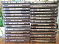 Louis Lamour 94 books western leatherette gold embossed good plus condition