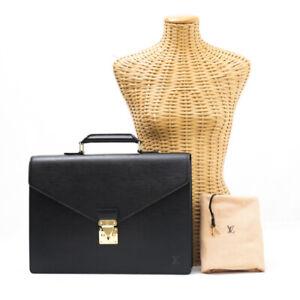 Louis Vuitton Epi Serviette Ambassador M54412 Brief Case Business Bag Black Noir