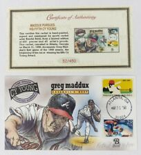 Greg Maddux Pursues His Fifth Cy Young Bevil HP Cachet with COA 3/31/1998