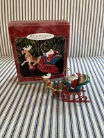 Vintage HALLMARK 1998 CHRISTMAS SLEIGH RIDE W/original Box Excellent