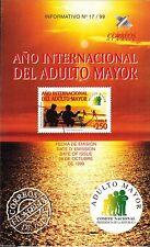 Chile 1999 Brochure año Internacional del Adulto Mayor
