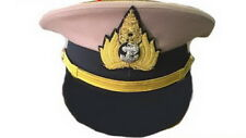 Royal Thai Navy Officer Cap Uniform Naval Soldier Thailand Military Hat Original