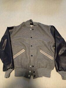 Vintage DeLong Varsity Letterman's Jacket Sz M medium Wool 90s