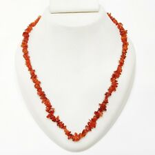 Chips Beaded Necklace Jewelry G46G Natural Gemstone Carnelian SemiPrecious Uncut