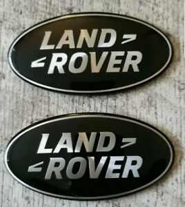2⭐️BLACK⭐️LAND ROVER⭐️86MM GRILLE AND BOOT BADGES,EVOQUE RANGE ROVER FRONT REAR