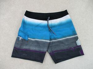 Quicksilver Swim Trunks Mens 40 Blue Black Board Shorts Bathing Suit Men A13*