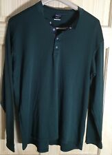 Vintage Patagonia Capilene Snap Front Baselayer Mens Top Large Made In Usa Green